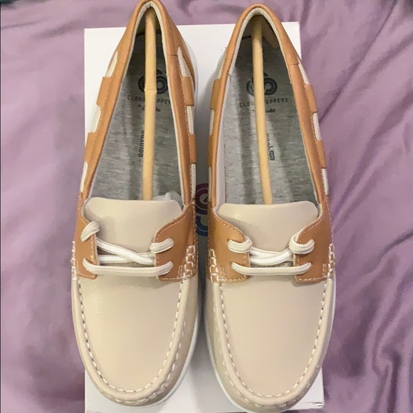 Cloudsteppers by Clark's boat shoes